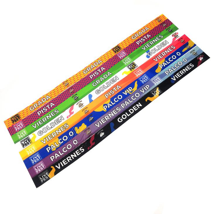 Manufacturer Supplied Customized Best Quality Satin Material Sublimation Printed Wristband