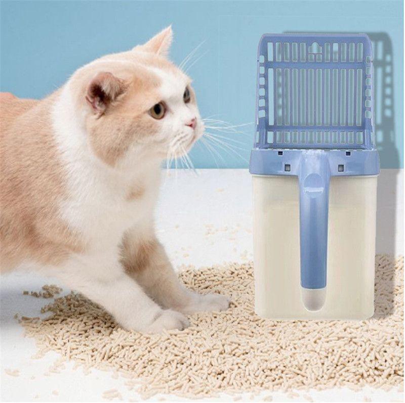 Plastic cat litter shovel integrated cat shovel pet cleaning supplies
