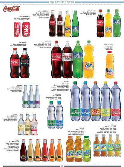 Coca Cola ,Fanta , Sprite , Pepsi , Mirinda , 7UP ,