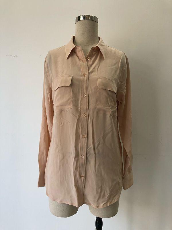 Women 100% silk blouse