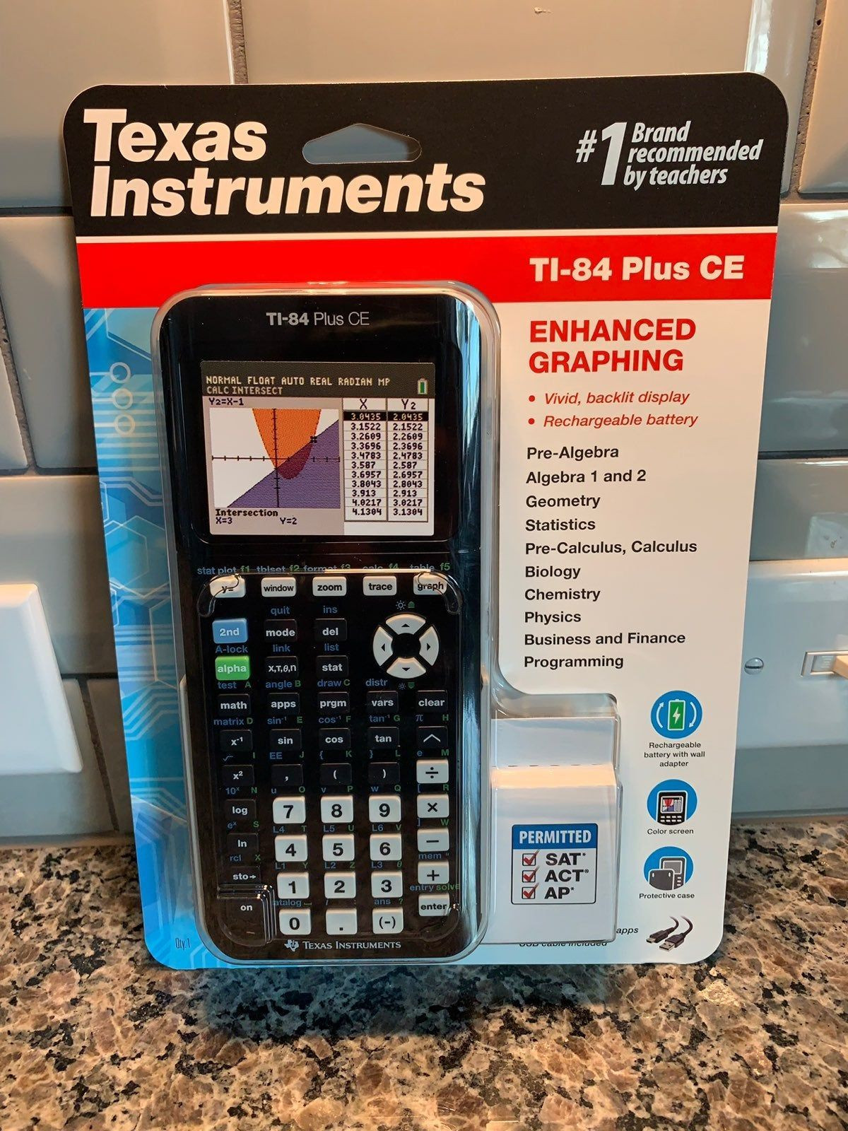 Texas Instruments TI-84 Plus CE Graphing Calculator Color Variations