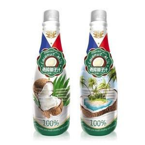 1.25L Raw squeezed organic coconut milk juice drink in bottle