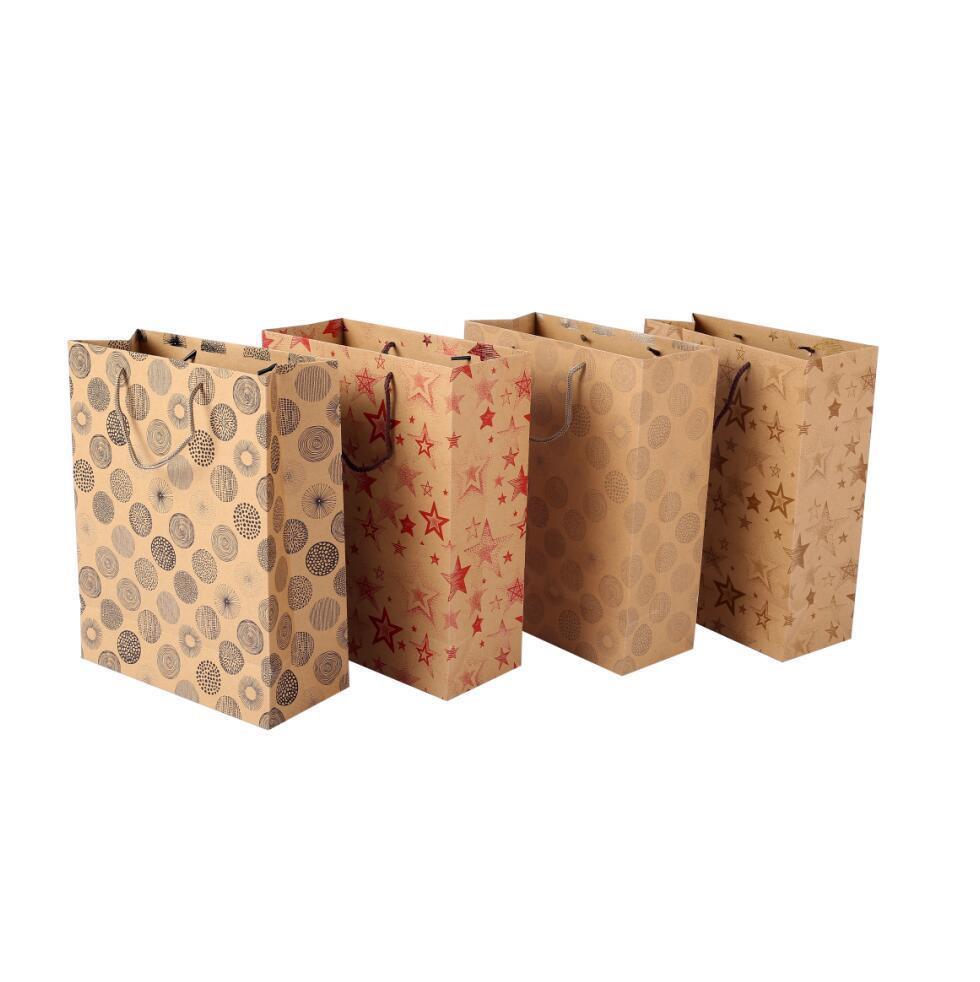 2019 BSCI Factory Logo Printed Custom Kraft Paper Bags