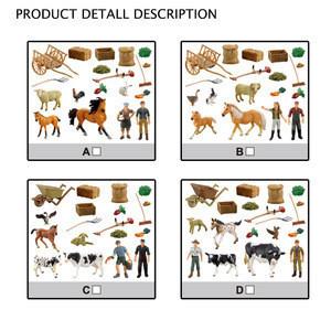 2019 Hot Good Quality Plastic Animals Toys Happy Farm Set Toys
