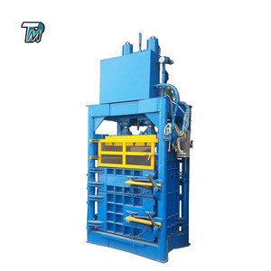 60T plastic  vertical hydraulic baler machine for used clothes