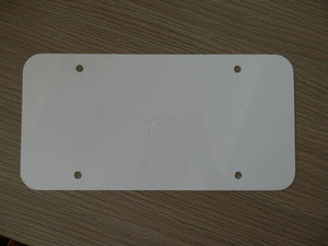 Blank plastic license plate