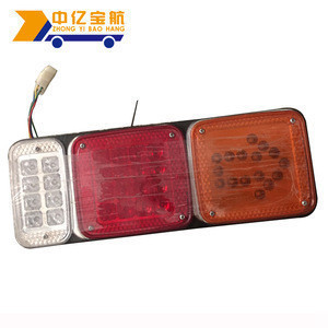 Cheap Car Accessories Rectangular Led Tail Light Three Color Combination Truck Tail Lights