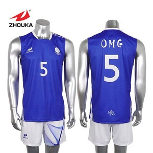 Cheap sublimated  design dry fit volleyball men jerseys