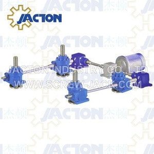 Complete Synchronization Four Jacks Electric Screw Jack System for Table or Platform Transmission and Lifting