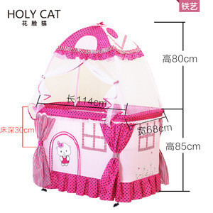 Fashionable baby playpen baby furniture with mosquito net