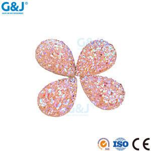 Guojie brand factory quality suppliers wholesale beautiful bingbing resin gem precious semi precious stone rhinestone crystal