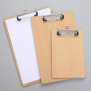 High Quality Office Customized Clipboard a3 a4 a5 a6 Wooden Clipboard