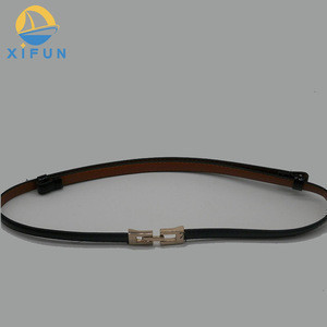 High sales quantity custom women PU full grain leather belt with alloy buckle made in China