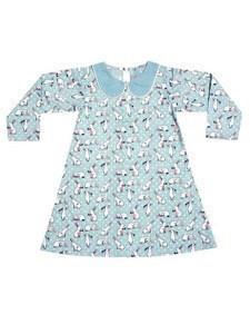 Hot Design Kids Dress Floral Printed Frocks Baby Long Sleeve Frock Gowns Design