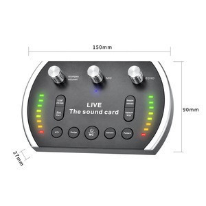 Hot Sale High Quality Studio External Sound Card Adapter For Microphone Headphone Studio Earphone