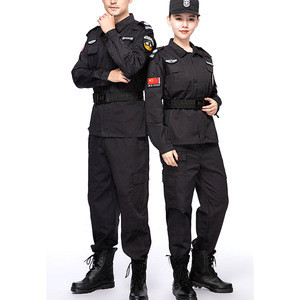Hot Sell Private Security Guard Uniforms Black