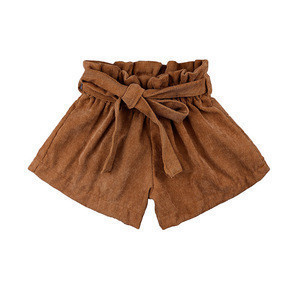 Ins Hot Sales 1-6 Years Good Quality Corduroy Baby Bow Shorts