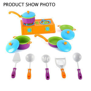 Kids Kitchen Toy Pretend Play Cooking Toys Tableware Set