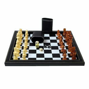 Leather chess board game