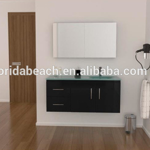 New Design Modern Vanity, Glass Basin Bathroom storage Cabinet, Bathroom Furniture
