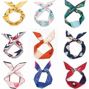 New fashion model wholesale handmade woman beautiful accessory headbands colorful fabric elastic hair bands