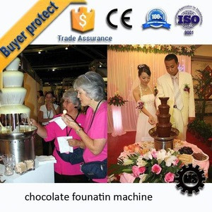 New pattern Electric Stainless steel 6 Tiers Cheap Chocolate Fountain price