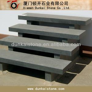 Outdoor and indoor black granite stair step