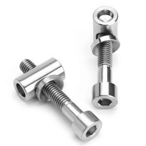 Titanium Ti M5 x 30mm Screw Bolt Nut Washer For Bicycle Seat Post Seatpost