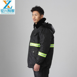 Waterproof Anti-cold winter work jacket safety reflective tapes cold storage jacket for minus 30 degree