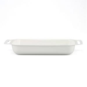 Wholesale BBQ Enamel Food Container Metal Meat Vegetable Plate