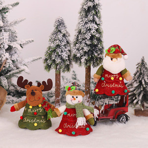 Wholesale Christmas Decoration Ornaments 3D Plush Toy Apple Bag