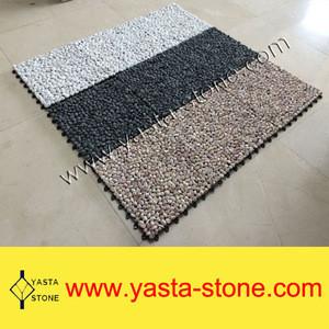 Wholesale Pebble River Stone Tile Cobble Stone With Baseboard