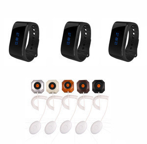 Wireless  nursing calling system with waterproof watches for nurse and toilet push button
