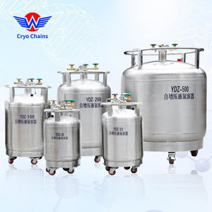 YDZ-300 300L SUS304 stainless steel self pressure liquid nitrogen container for cryosaunas biobank freezer LN2 transfer filling