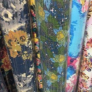"Cotton Linen Print Woven 140gsm 57""/58"""