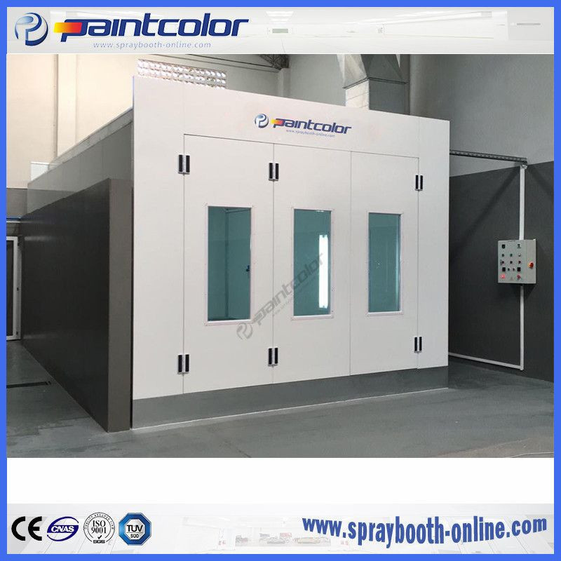 Linked paint booth PaintColor brand Down Draft Spray Booth