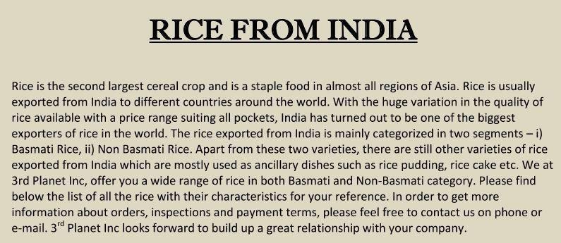 Basamati Rice