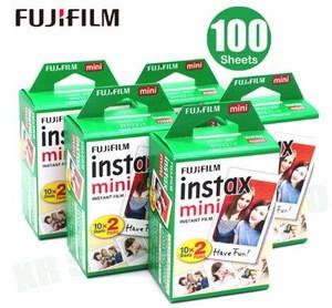 100 sheets Fuji Fujifilm instax mini 9 8 films white Edge films for instant mini 9 8 7s 25 50s 9 90 Camera Sp-2 photo Paper