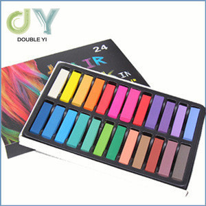 24 Colors Temporary Hair Chalk Set / Non-Toxic Rainbow Colored Hair Dye