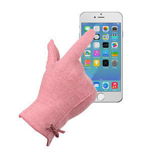 70% Cashmere 30% Polyester Fashion Cashmere Glove, Screen Touch Gloves