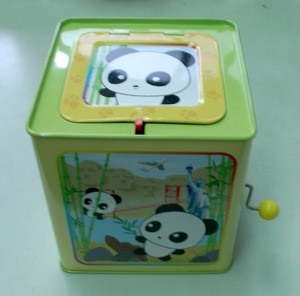 A008 Jack in a box; Jack in the tin box plush toy