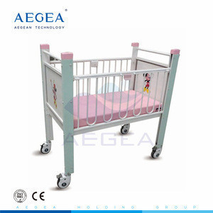 AG-CB004 Full length rails medical hospital beds for kids with 4 silent wheels