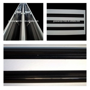 Aluminium Air Conditioning Linear Slot Diffuser with Plenum Box and Butterfly Volume Damper