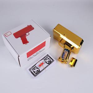 Cash Cannon Super Money Gun Fashion Toy Make It Rain Money Gun Gold Christmas Gift Toys Pistol Children Cash Gun