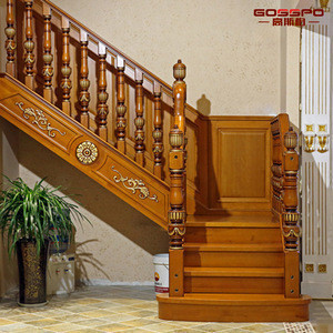 Classic Style Solid Rosewood Stair Treads Wooden Stairs Design wood stair treads