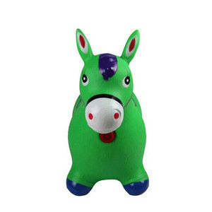Colorful Child Non-toxic Inflatable Jumping Riding Horse Animal Toy