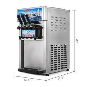 Commercial 3 Flavor Soft Ice Cream Machine Frozen Ice Cream Cones 18L/H CE