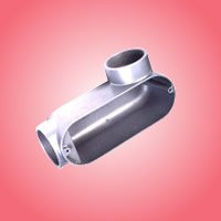 Conduit Body, LB Style, 1/2 In, Aluminum in cable conduits,gray