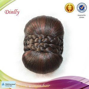 Fashion style top sale hair bun hairpiece fake chignon mixed color