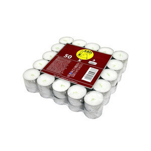 Good Quality white tea lights candle with best price unscented white tea lights burning time 6,5-8 hours, 50pcs/shrink pack